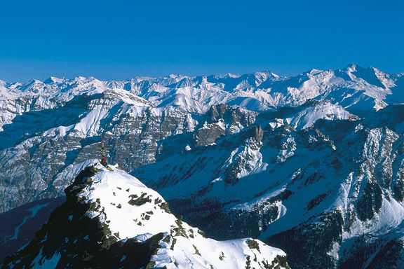 Mountain panorama winter, Omesberger Hof in Neustift – a holiday in the Stubai Valley in Tyrol